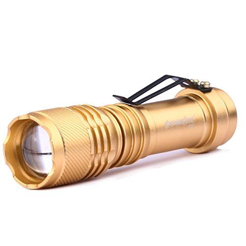 Cramberdy LED Taschenlampe Tragbare Taschenlampe Taktische Taschenlampe Super hell LED Fackel Licht,6000 Lumen,3 Verstellbare Modi,Wasserfest,Ideal für Camping, Wandern, Radfahren, Outdoor Aktivitäten