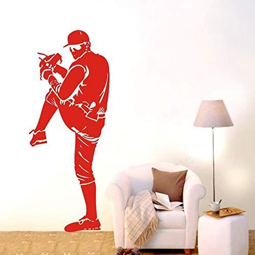 JJHR Wandtattoos Wandaufkleber Baseball Athleten Abnehmbare Wandaufkleber Abziehbilder Aufkleber Wohnkultur Wandbild Dekor Schlafzimmer Wandtattoos Wandbild 45 * 112 cm -