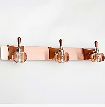 LYNDM 6W impermeabile del muro del bagno applique Crystal G4 Luce specchio di legno moderno Lampada da parete a specchio bagno lampada frontale del muro del bagno applique,Bianco freddo(5500-7000K)(#JD-0615)