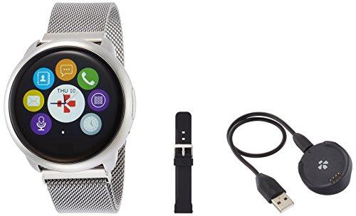 MyKronoz Smart Watch Fitness Tracker zeround, Unisex, Smartwatch Fitnesstracker ZeRound Premium mit Lederarmband, Schwarz...