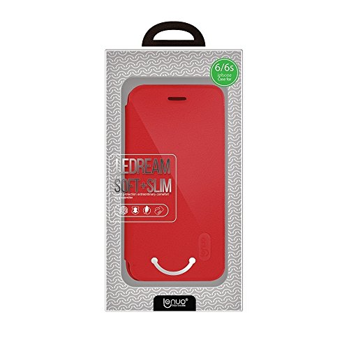 Wkae Lenuo PU + PC Litchi Textur Horizontale Flip Leder Tasche mit Card Slots für iPhone 6 & 6s ( Color : Black ) Red
