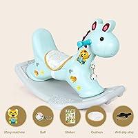 ☝YYSilla Mecedora de plástico para niños, Etiqueta de la máquina de Music Story Rocking Horse (Tamaño : F)