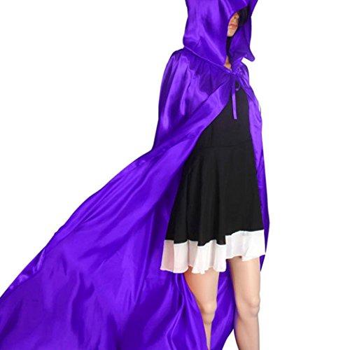 Jahre Plus 70er Halloween Size Kostüme (Cape Schal Halloween Von Xinan Hooded Mantel Wicca Robe Party Kleidung (M,)