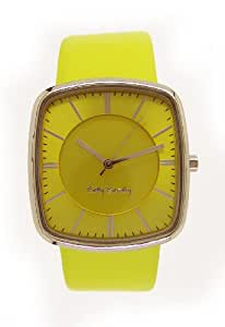 Betty Barclay Women's Quartz Watch with Yellow Dial Analogue Display and Yellow Leather Strap BB105.03.328.929