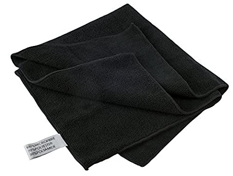 X Large Premium Black Stainless Steel Microfibre Cleaner Polishing Cloth