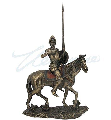 Don Quijote Full Armor W/lanza Estatua Escultura Figura