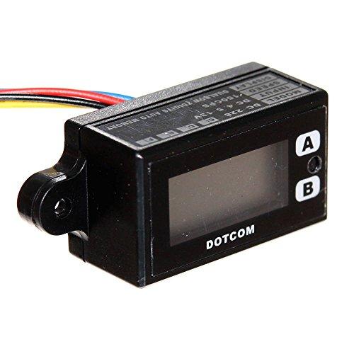 1x 7-stelliger Zähler Digital 2-zeilig 4,5V 6V 9V 12V Counter Flipper Aufwärtzähler Impulszähler Memory Reset Neu Joy-Button -
