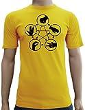 piedra papel tijera lagarto Spock Camiseta entallada (Tallas S–XXL), varios colores, dorado, large