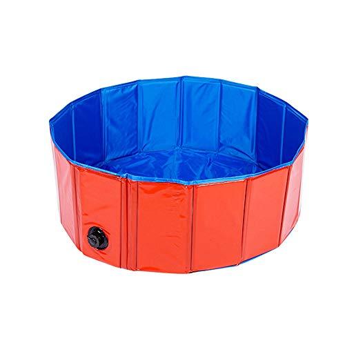 WJQ Klapppete Badehund und Katzenschwimmbad PVC Composite Cloth Safe und zuverlässige Raumfahrt sparen Drainage Macht Liebe Pet Haben Sie eine komfortable Zeit