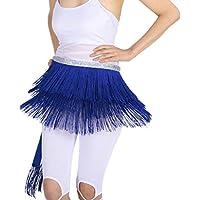 IPOTCH Bufanda de Cintura Pañuelo de Cadera con Flecos Volante Traje para Baile Salsa Danza de Vientre