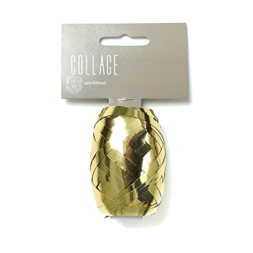 Gift Wrap Ribbon Individual 10M Roll Gold Wrapping Ribbon Collage Gift Dressings