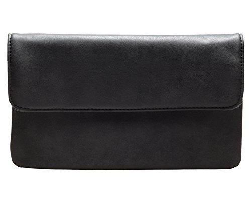 cecilia&bens Damen Clutch schwarz   kleine Tasche   Handtasche   Abendtasche -