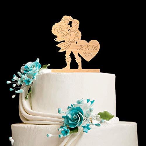 zeitstorte Dekoration Meerjungfrau, Hochzeit, kleine Meerjungfrau, Hochzeit, Geschenk, Ideen, Jubiläum, Party-Dekoration ()