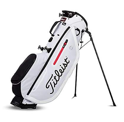 TITLEIST Bolsa para Palos de Golf. Players 4. Color Negro/Rojo, Hombres, Talla Única