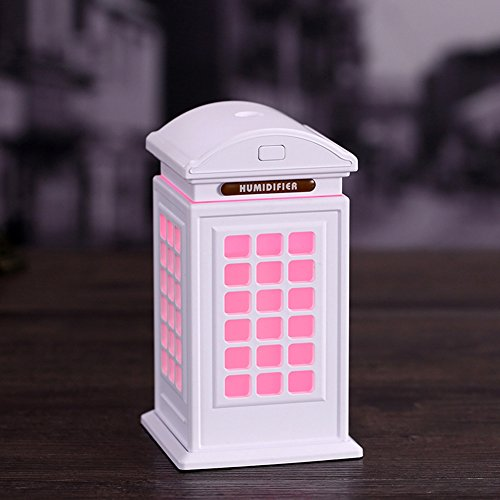 Night Light cabina humidificador Anion ultrasonidos Fragrance pulverización de agua Set de réapprovisionnement de Navidad adorno