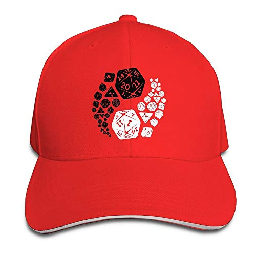 Plain Hat Dungeons und Dragons Yin Yang Sporting Baseballmütze Outdoor Snapback Hat ()