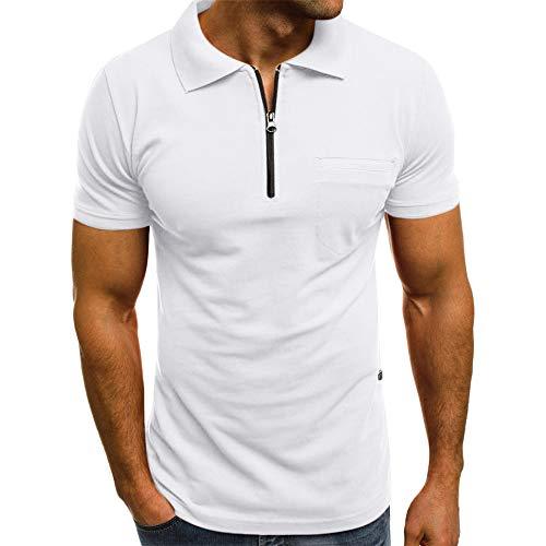 Beonzale Beiläufige Dünne Kurze Hülsentaschen-T-Shirt Spitzenbluse Der Art- Und Weisepersönlichkeit-Männer Elastic T-Shirt Tops Bluse Kurzarm Freizeithemden (Rose Collectibles White)