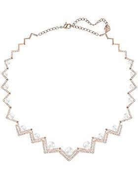 Swarovski Damen-Collier Edify All-Around Halskette Kristall weiß Perle 40 cm - 5196684