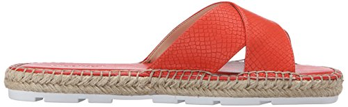 Nove in pelle occidentale Demetria Dress Sandal Red/Orange