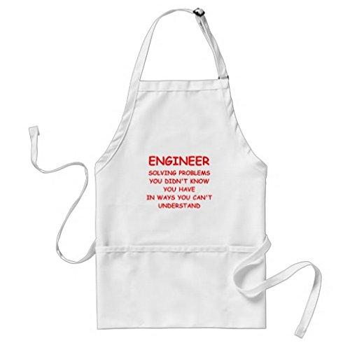 Simplyeo Tablier de Cuisine pour Femme ingénieur Tabliers de Motif pour Filles Cou réglable Attaches de Tour de Taille Tablier de Cuisine pour Homme