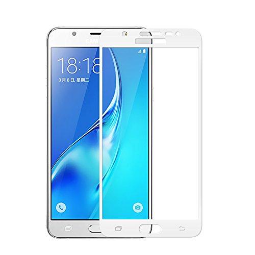cookaR Pellicola Samsung Galaxy J5 2018, 9H Durezza, Touch Compatibile,Senza Bolle,Anti-Olio, Anti-Impronta Anti-graffio 3D Full Cover Vetro Temperato Pellicola Protettiva per Samsung J5 2018(Bianco)