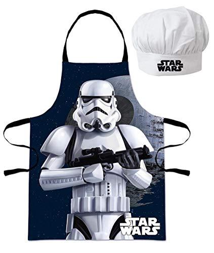 Star Wars Set Chef Gorro+Delantal 3 8 años Infantil