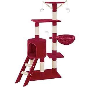 tectake arbre chat griffoir grattoir diverses couleurs au choix bordeaux. Black Bedroom Furniture Sets. Home Design Ideas
