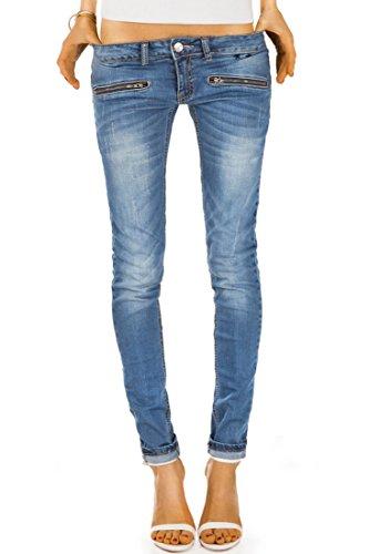 Bestyledberlin Damen Jeans Hosen, Hueftjeans j03i 38/M, Blau
