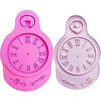 Petsdelite® M0714 Reloj Forma Molde de Silicona para Decoraciones de Pasteles Herramientas Reloj Fondant Arcilla