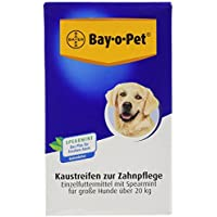 Bayer Mouth Guard 33270 Bay-o-Pet Zahnpflege Kaustreifen Spearmint großer Hund 140 g