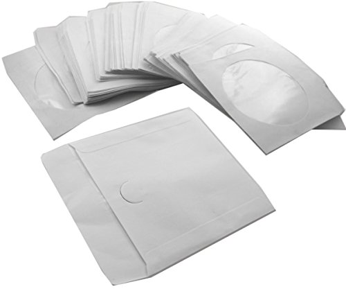 1000 x CD DVD Papier Hüllen Papierhüllen mit Fenster