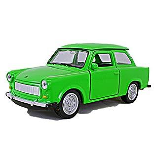Schaepers Kaleidoskope Modellauto / Trabbi / Trabant 601 / mit Rückzugantrieb / ca. 11 cm / 3 Farben / Türkis / Grün / Weiss / Zufallsauswahl / Trabi
