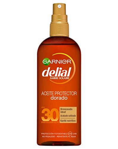 Garnier Delial - Aceite Protector Dorado Sublime FPS30