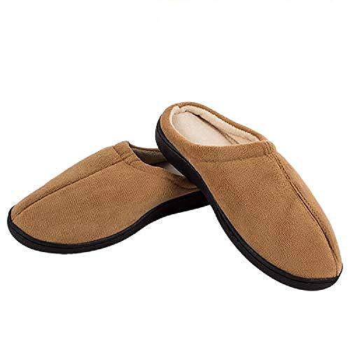Zapatillas Relax Slippers Negro (Talla L:42-44 - Color: Marron)