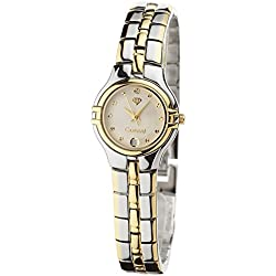 Yves Camani Damen-Armbanduhr Carat 23 Modell MALIA Bicolor Analog Quarz 475-L-W-BI