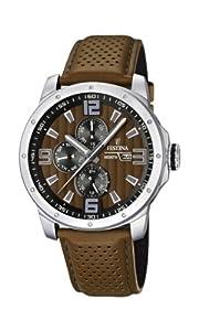 Reloj Festina F16585/2 de cuarzo para hombre con correa de piel, color marrón de Festina