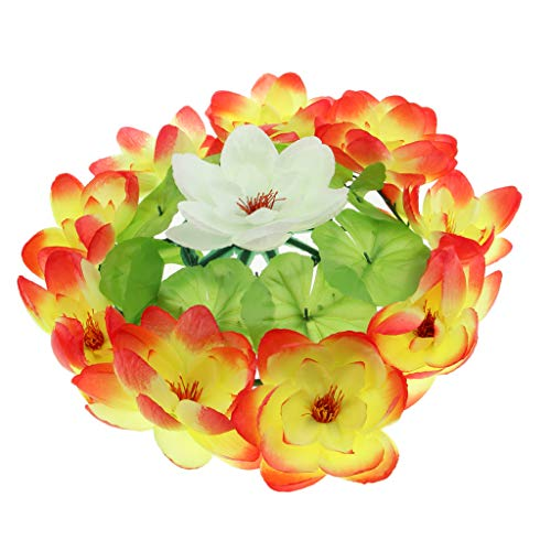 D DOLITY Kunstblumen Kranz Dekoblumen Grabblumen als Grabschmuck Grabgesteck und Grabdekoration, aus Lotus