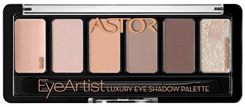 Astor EyeArtist Luxury Eye Shadow Palette, 100 Cosy Nude, 1er Pack (1 x 6 g) - Creme Eye Shadow Palette