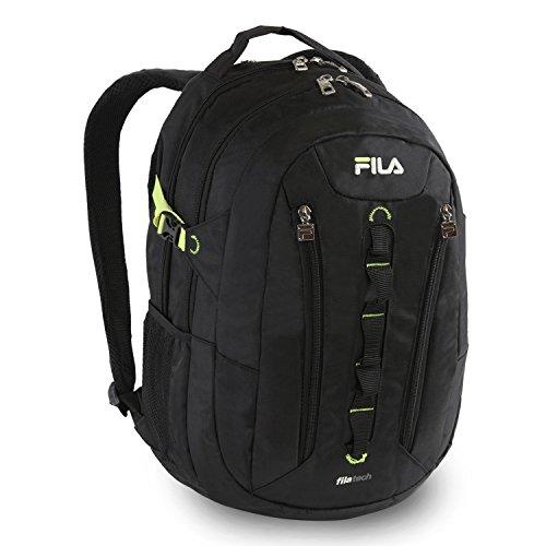 Fila Vertex Tablet und Laptop Schule Rucksack, schwarz (schwarz) - FL-BP-1145-BK