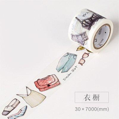 IENGWG 3 cm * 7 mt Täglichen Leben Zakka washi klebeband DIY dekorative scrapbooking aufkleber planer masking klebeband label schulbedarfKleiderschrank