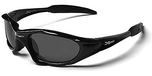 X-Loop Sonnenbrillen - Sport - Radfahren - Skifahren - Laufen - Driving - Motorradfahrer - Kajak - Klettern - Angeln / Mod. 1002 Schwarz / One Size Adult / 100% UV400 Schutz