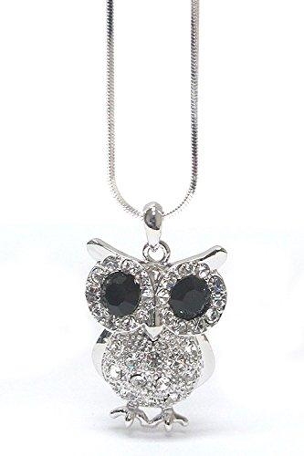 Lola Bella Geschenke Kristall Wise Old Eule Anhänger Halskette mit Geschenk-Box