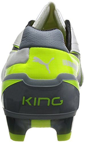 Puma King Fg Herren Fußballschuhe Gelb (metallic White-black-fluro Yellow-tradewinds 10)
