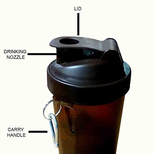 Kunststoff-Fitness-Studio Wasserflasche mit 3-Schicht-Twist und Lock-Speicher / braune Farbe / 600ml, Loop Top Shaker Flasche, Ostern Tag / Muttertag / Karfreitag Geschenk (Pille Nehmen-cup)