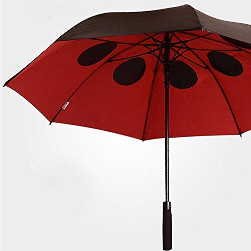ssby Aluminium Oversize winddicht Regenschirm, Doppel Vinyl Dual Tandem Wing, Herren Automatik Regenschirm Lang Regenschirm, stabil und tragbar