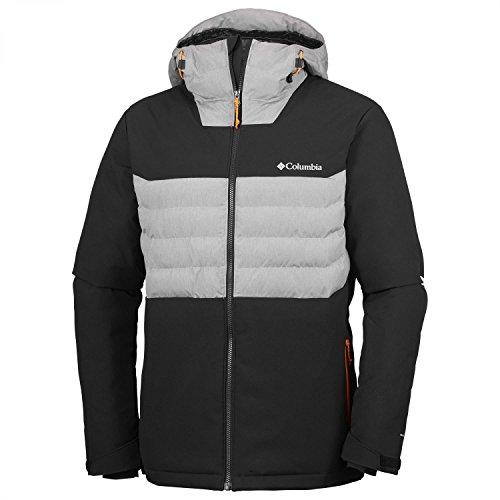 Columbia Herren Wintersport Jacke White Horizon Hybrid WO0896 Black, Grey Heather XXL