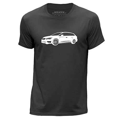 stuff4-hommes-grand-l-gris-fonce-col-rond-t-shirt-stencil-art-voiture-leon-cupra-st
