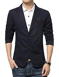 YiLianDa Herren Nehmen Passender beiläufiger Stilvoller Anzug Jacken Mantel  Blazer Geschäft Anzugjacken 853359dd03