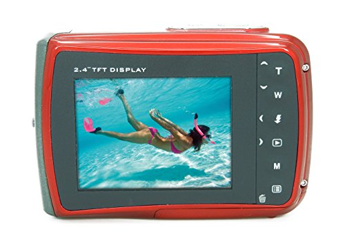 Aquapix W1024-R Splash Unterwasser Digitalkamera rot - 2