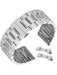 sostituzione del metallo cinturini 21 millimetri di alta qualità cinturino di vigilanza dell'acciaio inossidabile